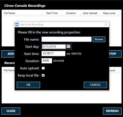 cirrus-console-recording
