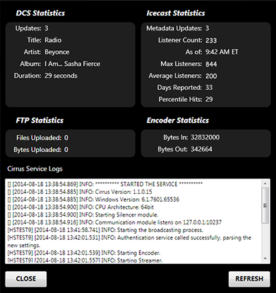 cirrus-console-stats