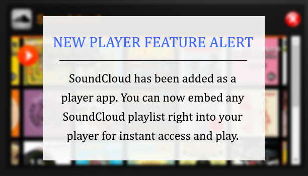 SoundCloud on the players
