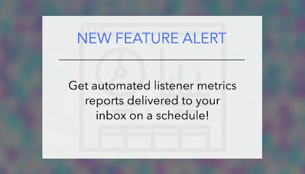 Listener metrics